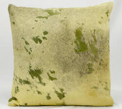 Nourison Pillows Natural Leather Hide Ik010 Olive