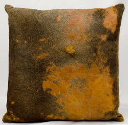 Nourison Pillows Natural Leather Hide Ik010 Orange