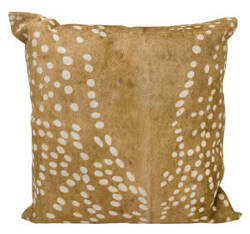 Nourison Natural Leather And Hide Pillow Ik255 Brown