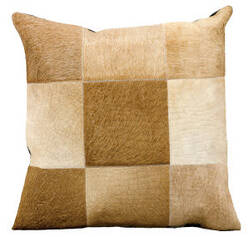 Nourison Pillows Natural Leather Hide Jh262 Beige