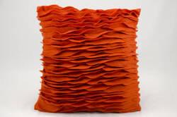 Nourison Mina Victory Pillows Felt L1032 Burnt Orange