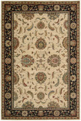 Nourison Living Treasures LI-04 Ivory-Black Area Rug
