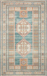 Nourison Madera Mad04 Teal Green Area Rug
