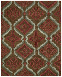 Nourison Tahoe Modern Mta06 Brown Red Area Rug
