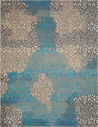 Nourison Opaline Opa13 Charcoal Area Rug