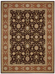 Nourison Persian Crown Pc001 Dark Brown Area Rug
