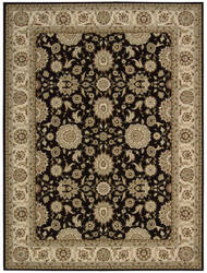 Nourison Persian Crown Pc002 Black Area Rug