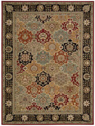 Nourison Persian Crown Pc004 Black Area Rug