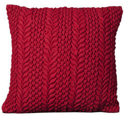 Nourison Mina Victory Pillows Felt R2354 Red