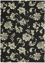 Nourison Home and Garden RS-014 Black Area Rug