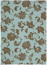 Nourison Home and Garden RS-014 Light Blue Area Rug