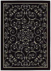 Nourison Home and Garden RS-019 Black Area Rug