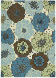 Nourison Home And Garden Rs021 Light Blue Area Rug