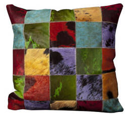 Nourison Pillows Natural Leather Hide S1151 Multicolor