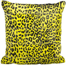Nourison Pillows Natural Leather Hide S1500 Yellow