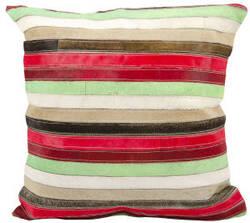 Nourison Pillows Natural Leather Hide S1806 Multicolor