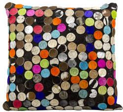 Nourison Pillows Natural Leather Hide S1920 Multicolor