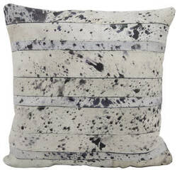 Nourison Pillows Natural Leather Hide S1975 Silver