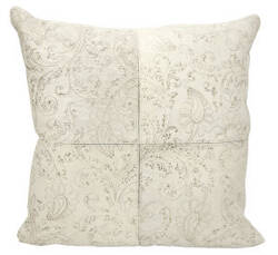Nourison Natural Leather And Hide Pillow S6066 White