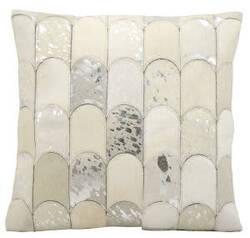 Kathy Ireland Pillows S6275 White Silver