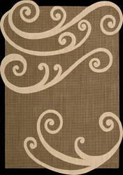 Nourison Silhouettes SIL-02 Chocolate Area Rug