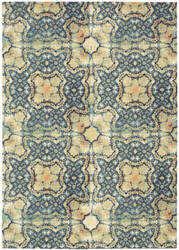 Nourison Vista Vis01 Blue Gold Area Rug