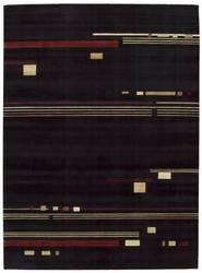 Nourison Parallels PR-04 Black Area Rug