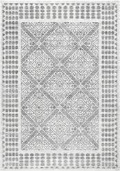 Nuloom Vintage Tiles Crissy Grey Area Rug