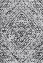 Nuloom Vintage Mosaic Karole Dark Grey Area Rug
