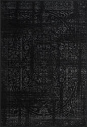 Nuloom Vintage Arlena Black Area Rug
