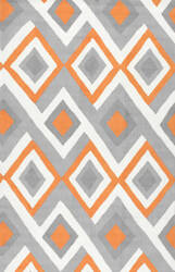 Nuloom Hand Hooked Anya Orange Area Rug