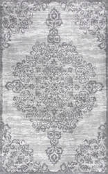Nuloom Floral Alcala Grey Area Rug
