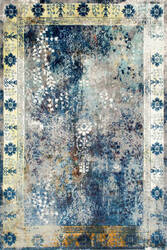 Nuloom Vintage Dotty Blue Area Rug