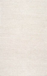 Nuloom Hand Woven Chunky Woolen Cable Off White Area Rug