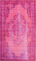 Nuloom Machine Made Vintage Pink Area Rug