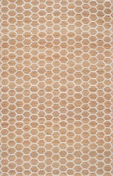 Nuloom Hand Woven Reversible Honeycomb Alisha Natural Area Rug