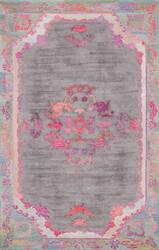 Nuloom Hand Tufted Floral Kiesha Grey Area Rug