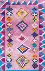 Nuloom Hand Tufted Arica Shaggy Pink Area Rug