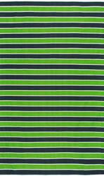 Nuloom Flatweave Kenton Stripes Green Area Rug