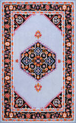 Nuloom Hand Hooked Sharell Floral Grey Area Rug