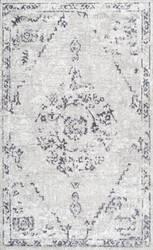 Nuloom Vintage Devries Grey Area Rug