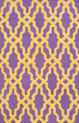 Nuloom Hand Hooked Nicolette Purple Area Rug