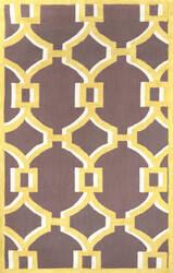Nuloom Hand Hooked Geometric Rosa Gold Area Rug