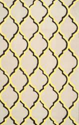 Nuloom Chieko Hand Hooked Yellow Area Rug