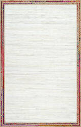 Nuloom Handwoven Braided Darline Ivory Area Rug