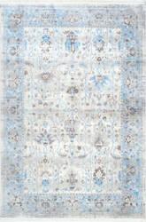 Nuloom Lasandra Ashen Fringe Light Blue Area Rug