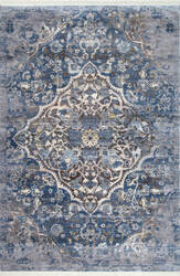 Nuloom Tenisha Medallion Fringe Blue Area Rug