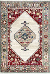 Nuloom Murrell Medallion Fringe Off-White Area Rug