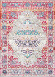 Nuloom Fancy Medallion Renato Red Area Rug