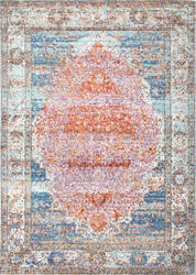 Nuloom Vintage Medallion Elmer Orange Area Rug